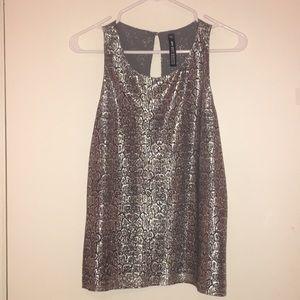 Silver Snake sleeveless top size M